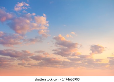 Gentle Sky Background at Sunrise time, natural colors, may use for wallpaper