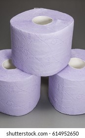 Gentle and soft pleated purple toilet paper.