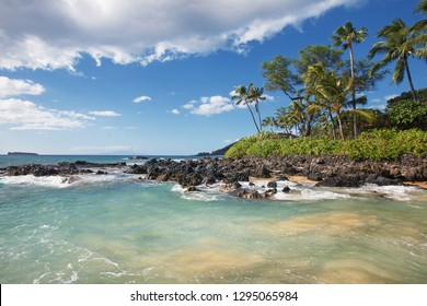 Gentle Waves at Tropical Beach (Makena Cove, Maui HI)