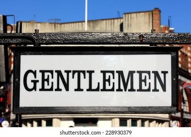 Gentlemen sign in Camden Town, London