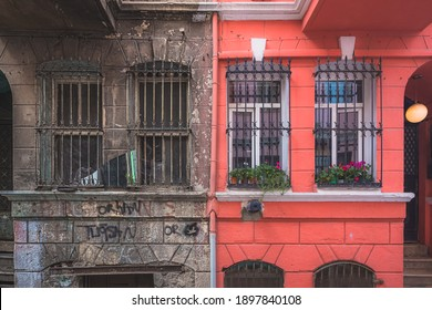 Gentrification and disparity between neighbour residences in the authentic and multicultural Istanbul neighbourhood of Balat.