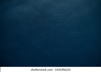 Genuine blue leather full grain texture close up cow skin