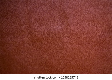 Genuine brown full grain leather background, Cowhide object