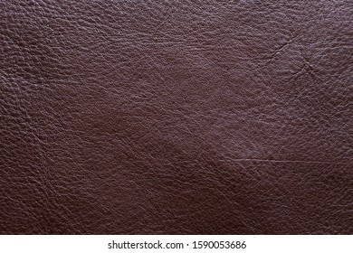 Genuine brown full grain leather background crafts texture