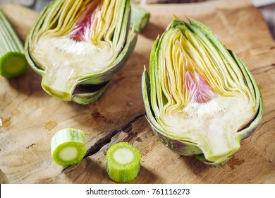 Genuine and fresh raw artichoke from Sardinia region in Italy