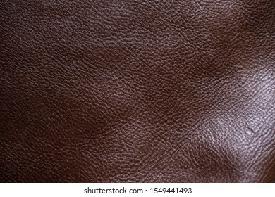 Genuine full grain cow leather texture cowhide background