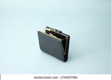 Genuine leather black Coin purse Genuine leather