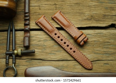 Genuine leather hand made watch strap