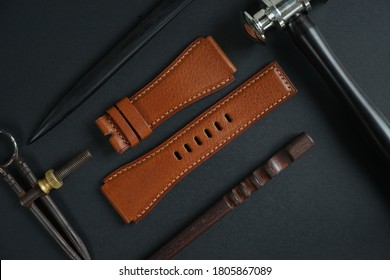 Genuine leather watch strap hand made