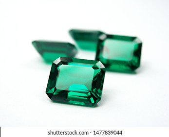 genuine mined natural green sapphire emerald cutting precious gemstone