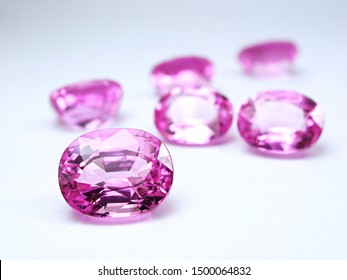 genuine mined natural pink sapphire oval shape cutting for design setting gems fashion jewellery