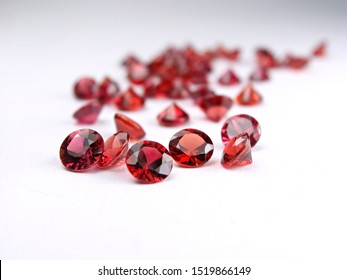 genuine mined natural red sapphire round diamond cut shape cutting for design fashion gems jewellery