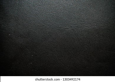 Genuine real black leather background, Cowhide texture