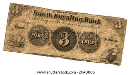 genuine three dollar bill united states stock photo edit now