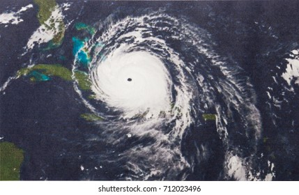 Geocolor Image of Hurricane Irma. Elements of this image furnished by NASA.