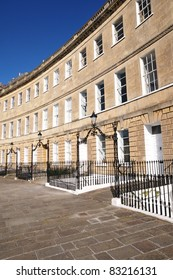 Geogian Crescent Town Houses in Bath England