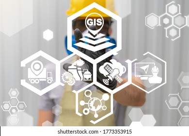 Geographic Information System (GIS) Modern Industry Smart Transportation Concept.