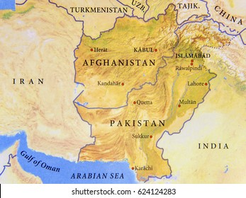 Afghanistan Location Map Stock Photos, Images & Photography ...