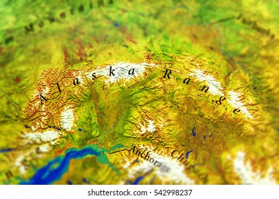 Alaska Physical Map Stock Photos, Images & Photography | Shutterstock