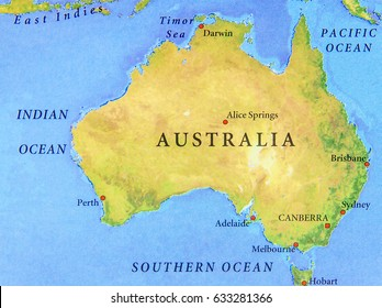 Australia Map Images, Stock Photos & Vectors | Shutterstock