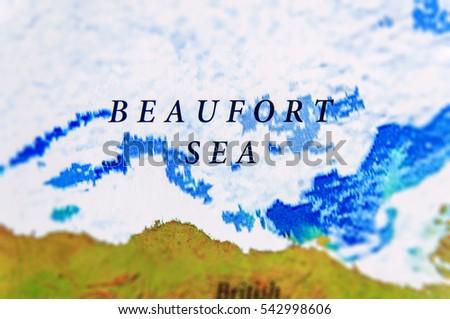 Geographic Map Beaufort Sea Us Alaska Stock Photo Edit Now