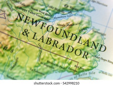 geographic map of canada country and newfoundland labrador with important cities