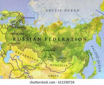 Kazakhstan Russia Map.Map Russia Kazakhstan Stock Photos Images Photography Shutterstock