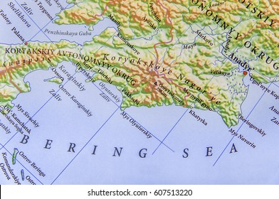 Geographic map of European Bering Sea
