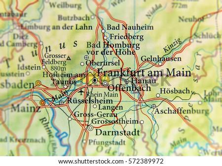 Bad Homburg Germany Map.Geographic Map European Country Germany Frankfurt Stock Photo Edit