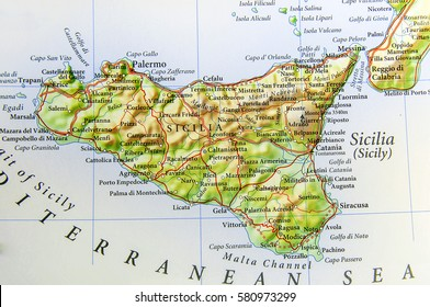 Sicily On Map Of Italy.Sicily Map Images Stock Photos Vectors Shutterstock