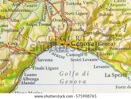 Geographic Map European Country Italy Geneva Stock Photo Edit Now