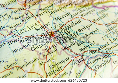Map Of India Geographic.Geographic Map India Capital City New Stock Photo Edit Now