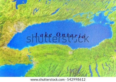 Geographic Map Lake Ontario Canada Country Stock Photo (Edit Now ...