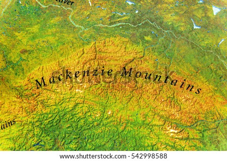Geographic Map Mackenzie Mountains Canada Country Stock Photo Edit