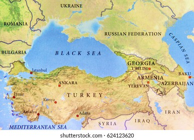 Map view australia on world map stock photo royalty free 680833414 geographic map of turkey with important cities and black sea close gumiabroncs Gallery