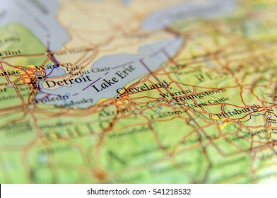 Lake Erie Map Stock Photos Images Photography Shutterstock