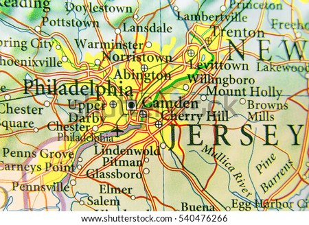 Philadelphia On Map Of Us.Geographic Map Us City Philadelphia Other Stock Photo Edit Now