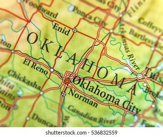 Oklahoma Map Images Stock Photos Vectors Shutterstock - Us-map-oklahoma