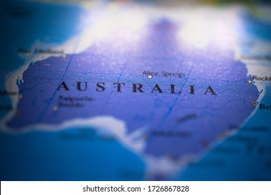 Geographical map location of Eastern Australia region in Australia Australasia continent on atlas