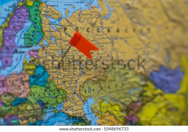 Geography Location Moscow On World Map Stock Photo (Edit Now) 1048696733