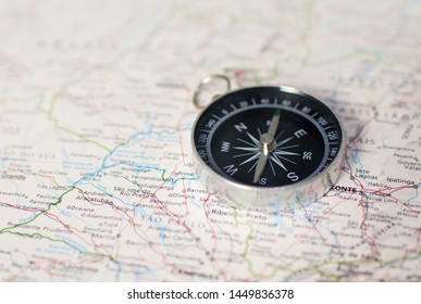 geography map compass travel adventure