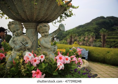Geojae, Korea - August 02, 2016: Oedo-Botania in Geoje Island, Korea