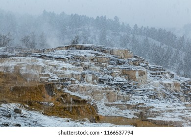 Geological features and geysers of Yellowstone National Park