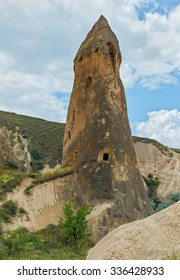 A geological formation consisting of volcanic tuff with cave dwelling. Cappadocia in Central Anatolia is a UNESCO World Heritage Site since 1985, Turkey