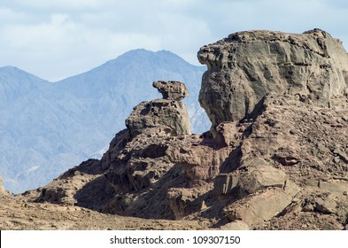 Geological formations in Timna park, 25 km north of Eilat, Israel