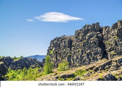 The geological fracture eurasia-europa - Thingvellir, Iceland