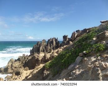 Geology on the south coast of Kauai, Hawaii
