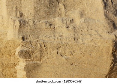 geology of sediment texture / layers of soil age-old sediments, soil corrosion, horizontal soil layers, sand, geological texture of the earth