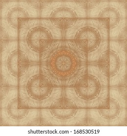 Geometric abstract background in beige tones