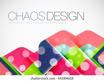 Geometric abstract background, light and shadow effects with transparent shapes